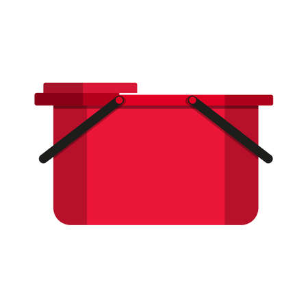 paint container: Empty bucket vector illustration icon.. Flat paint bucket cartoon vector illustration. Art work paint bucket container.