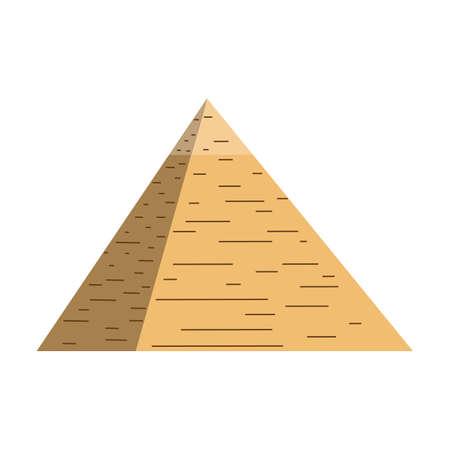 Egypte piramide vector illustratie en Egypte piramide geïsoleerd op een witte achtergrond. Egypte piramide illustratie vector icon.