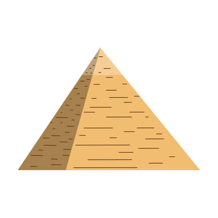 Egypt pyramid vector illustration and egypt pyramid isolated on white background. Egypt pyramid vector icon illustration.