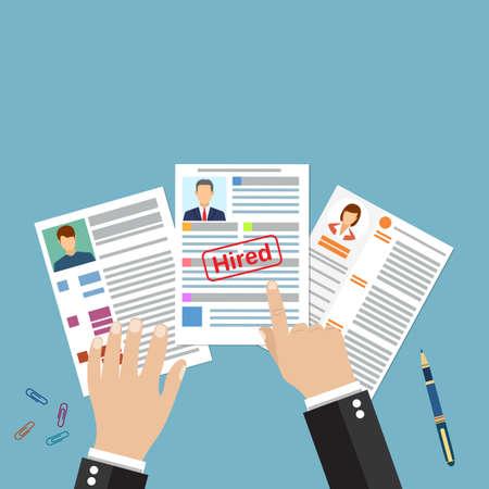 Cv Konzept Lebenslauf Mit Foto, Dokumente. Beschäftigung ...