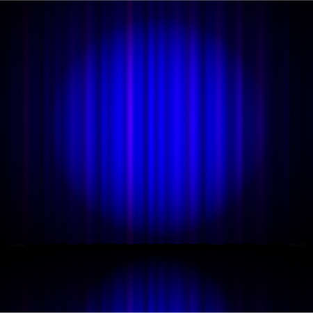 blue curtain: blue curtain from the theatre with a spotlight
