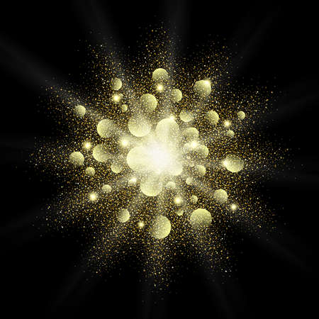 privilege: Golden glitter vector texture splash on black background. Gold glitter background. Gold background for card vip exclusive certificate, gift, luxury, privilege, voucher, store, present, shopping.