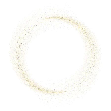 골드 반짝이 서클 추상적 인 배경, 흰색 배경에 황금 반짝임 골드 반짝이 카드 디자인. 스톡 콘텐츠 - 60316173
