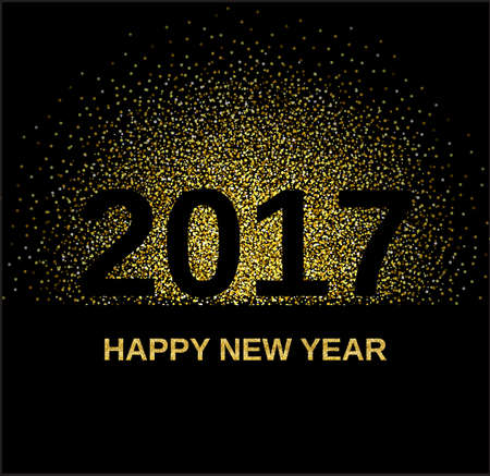 gold glitter happy new year 2017 background glittering texture gold sparkles with frame