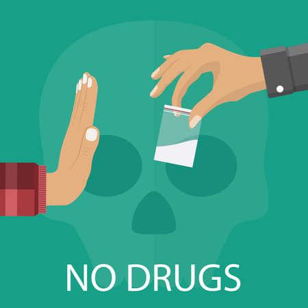 Keine Drogen-Konzept