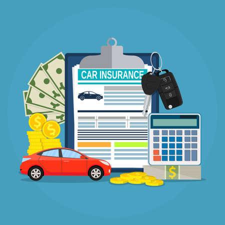 Car insurance form concept Stock Photo