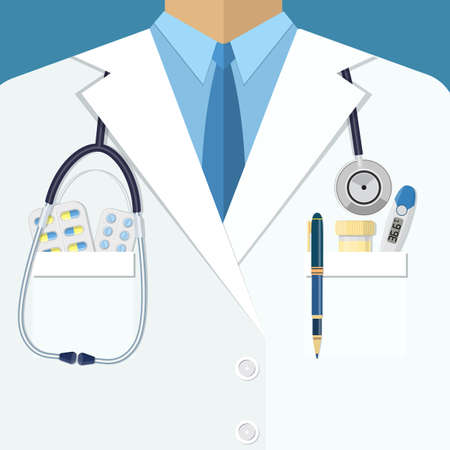 Background of white doctors suit