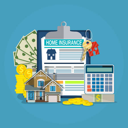 insured: home insurance form concept