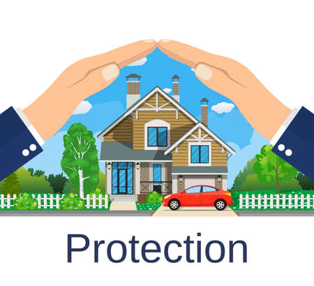 Home insurance concept. Çizim