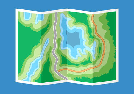 lake district: Abstract generic map