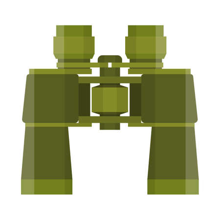 military watch: Binoculars travel or military icon.