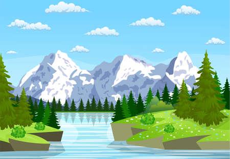 Rivier die door de rotsachtige heuvels stroomt