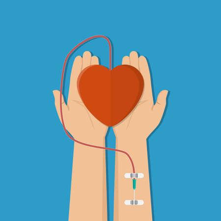 Blood donation concept.