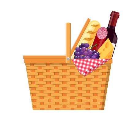 hamper basket wicker picnic basket