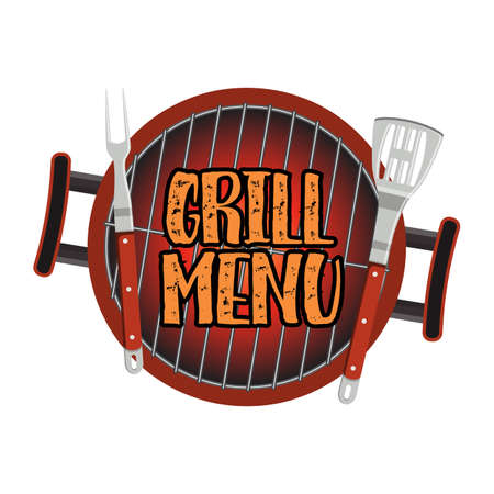 Grill Menu Card Design template Illustration