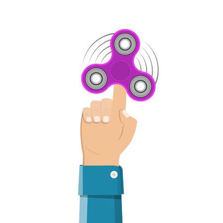 Hand holding spinner.