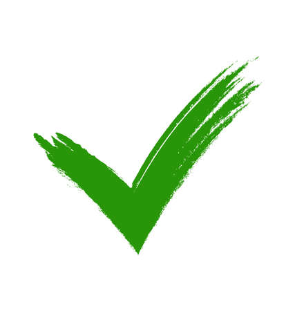 Green check mark. Stock Photo