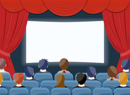 영화 시계 영화 극장 빈 화면 템플릿