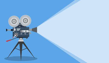 Cinema video camera icon.