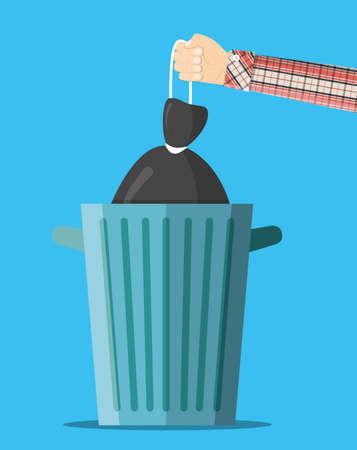 Huge waste trash can.