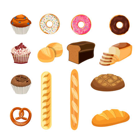Bakery shop  icons.