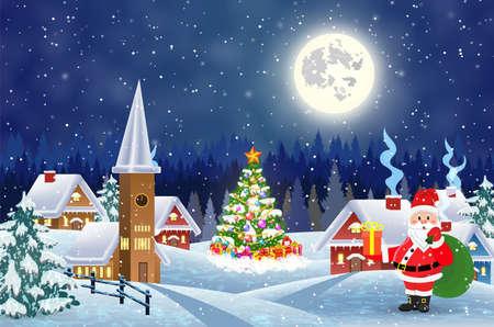Buon Natale e felice anno nuovo design della carta.