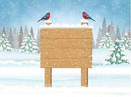Buon segno di legno di Natale