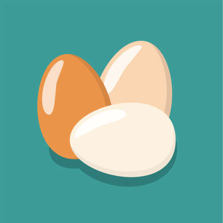 Eggs flat icon, chicken egg breakfast. Vector illustration in flat style