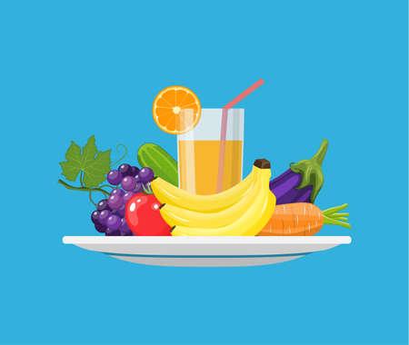 Food choice concept vector illustration