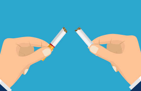 Stop smoking with human hands