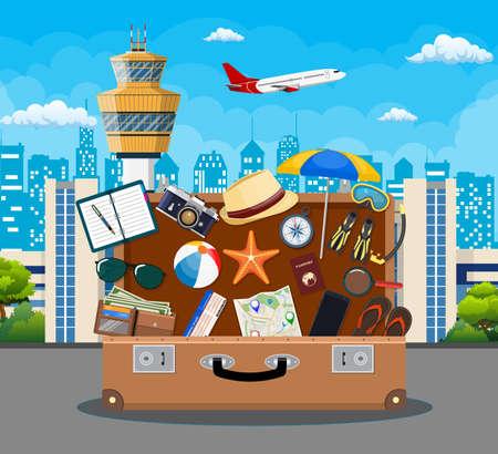 International airport concept background