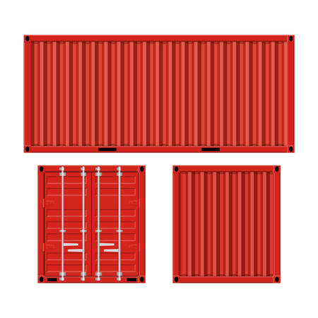cargo container for shipping Çizim