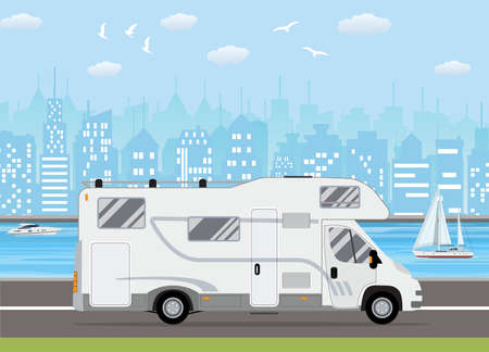 Family traveler truck Illustration