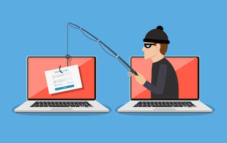 Phishing scam, hacker attack