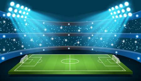 Soccer game Vector Stadium  イラスト・ベクター素材