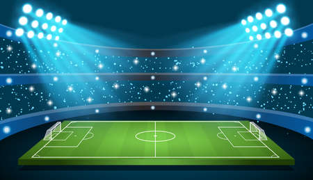 Soccer game Vector Stadium Иллюстрация