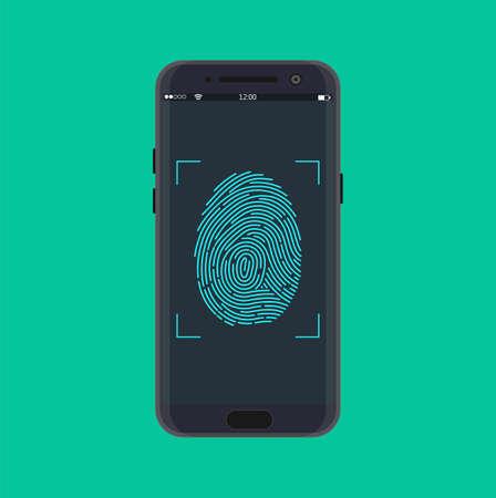Electronic fingerprint on pass scanning mobile