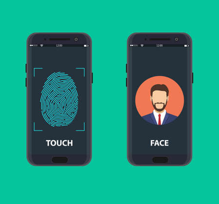 Smartphone with a face recognition