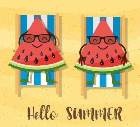 watermelons cartoon character
