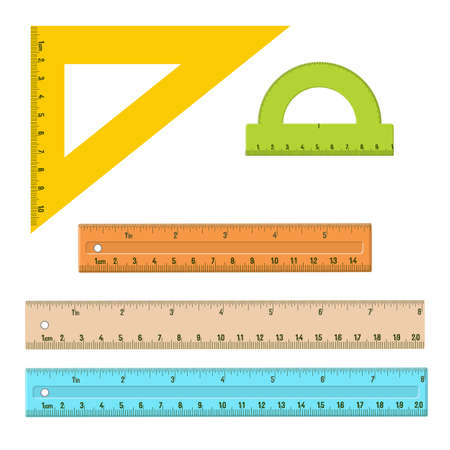 Plastic measuring rulers set.