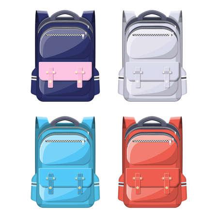 Colorful school backpacks.