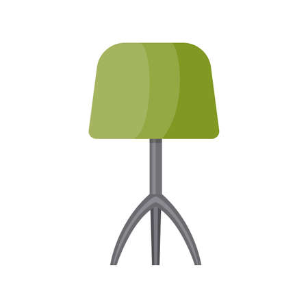 Table lamp icon isolated on white background. Vector illustration in flat style