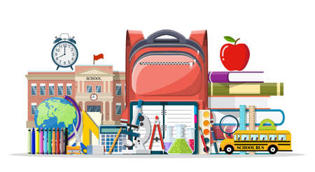 Big school set. Illustration