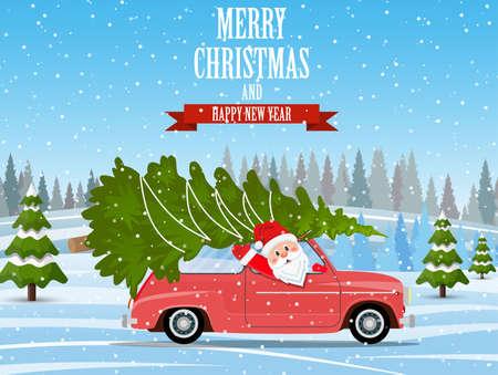 Merry Christmas Winter illustration. Illustration