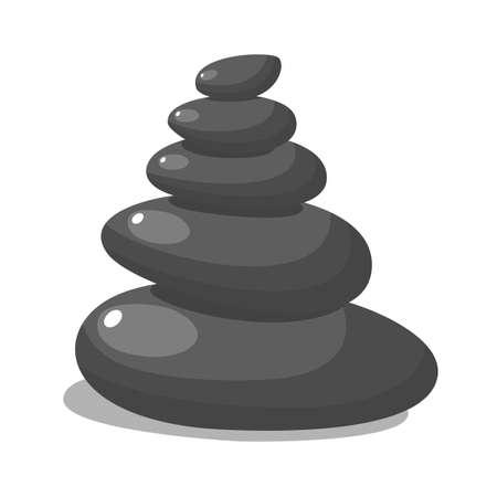 Spa stones for medical therapy, Vektorgrafik
