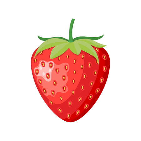 Ripe berry a wild strawberry