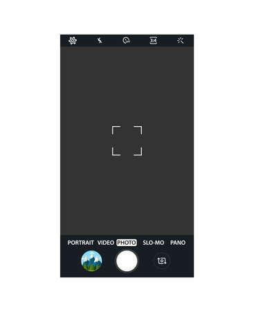 Moderne Smartphone-Kameraanwendung.