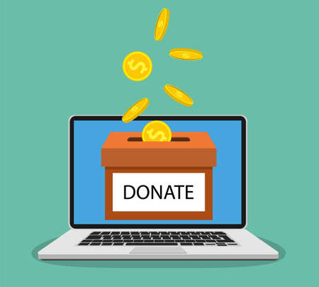 Donate money with box