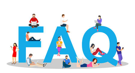 Frequently asked questions concept Illustration