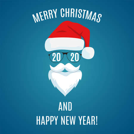 Merry Christmas greeting card template. Ilustração